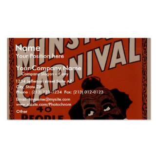 Oliver Scott's Big Ministrels Carnival, 40 people Double-Sided Standard Business Cards (Pack Of 100)