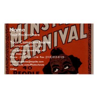 Oliver Scott's Big Ministrels Carnival, 40 people Pack Of Standard Business Cards
