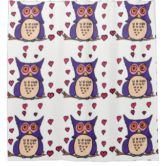 Oliver The Owl Shower Curtain