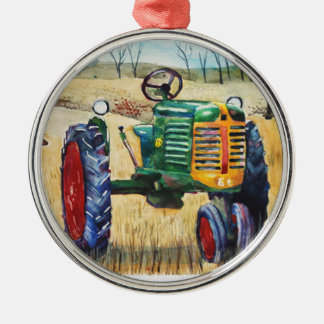 Oliver Tractor Metal Ornament