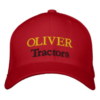 Oliver Tractors Lawnmowers Mowers Husky Design Embroidered Hats