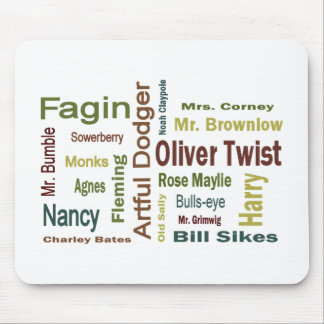 Oliver Twist Characters Mouse Pad
