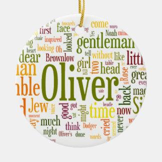 Oliver Twist Round Ceramic Ornament