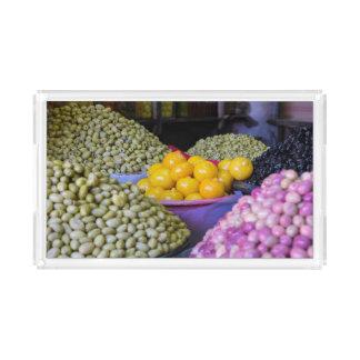 Olives And Lemon At Market Acrylic Tray