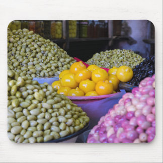 Olives And Lemon At Market Mouse Pad