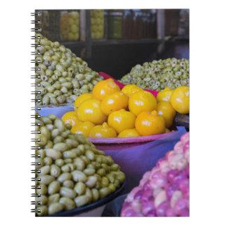 Olives And Lemon At Market Notebook