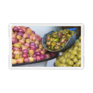 Olives At Market Acrylic Tray
