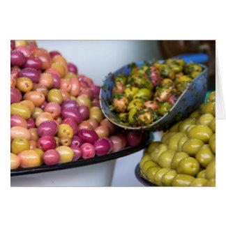 Olives At Market Card