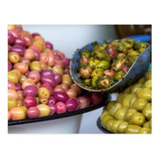 Olives At Market Postcard