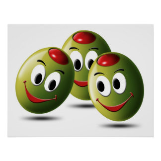 Olives filled with smile poster