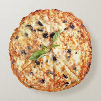 Olives Pizza Round Pillow