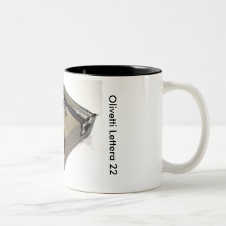 Olivetti Lettera 22 typewriter Two-Tone Coffee Mug