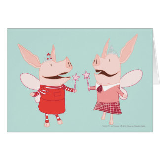 Olivia and Francine - Fairy Card