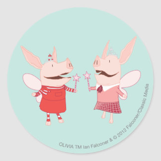 Olivia and Francine - Fairy Round Sticker