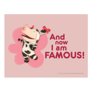 Olivia - And now I am Famous Postcard