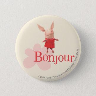 Olivia - Bonjour 2 Inch Round Button