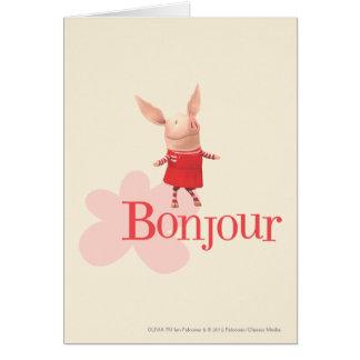 Olivia - Bonjour Card