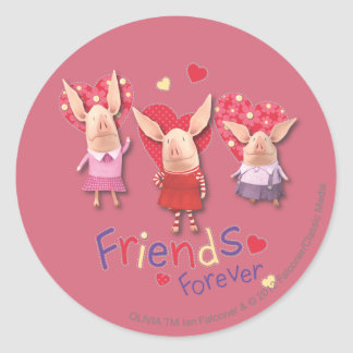 Olivia - Friends Forever Round Sticker