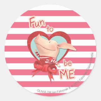Olivia - Fun to be Me Round Sticker