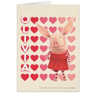 Olivia - Heart Background Card