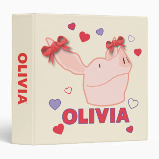 Olivia - Hearts 3 Ring Binders