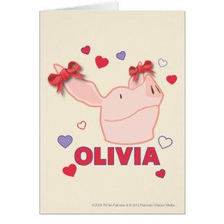 Olivia - Hearts Card