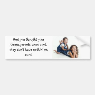 Olivia & Joey bumper sticker