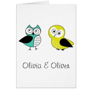 Olivia & Oliver Card