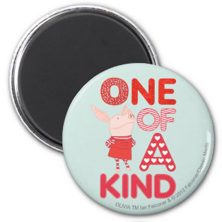 Olivia - One of a Kind 2 Inch Round Magnet