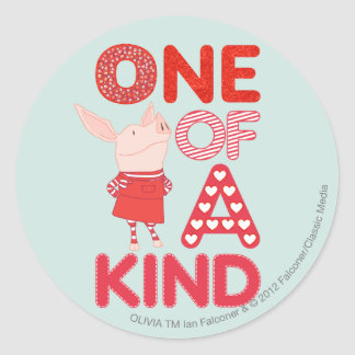 Olivia - One of a Kind Round Sticker