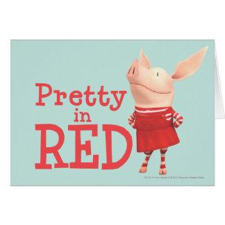 Olivia - Pretty in Red Card