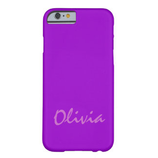 Olivia Purple Case-Mate Barely There iPhone Case