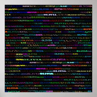 Olivia Text Design I Print