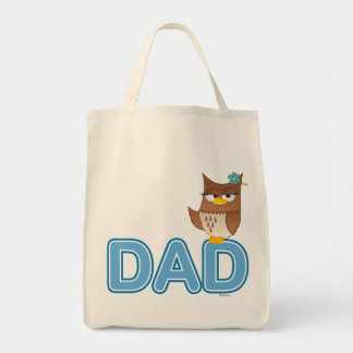 Olivia VonHoot Cartoon for Dad - Grocery Tote Bag