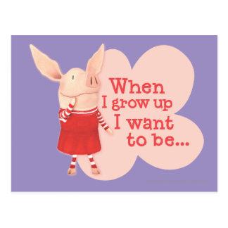 Olivia - When I Grow up Postcard