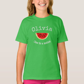 """Olivia Your Child's Name """"One in a melon"""" shirt"""