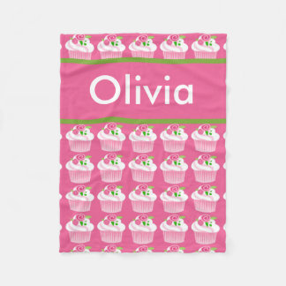 Olivia's Personalized Cupcake Blanket