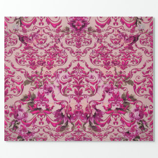 Olivia's Romantic Damask Wrapping Paper
