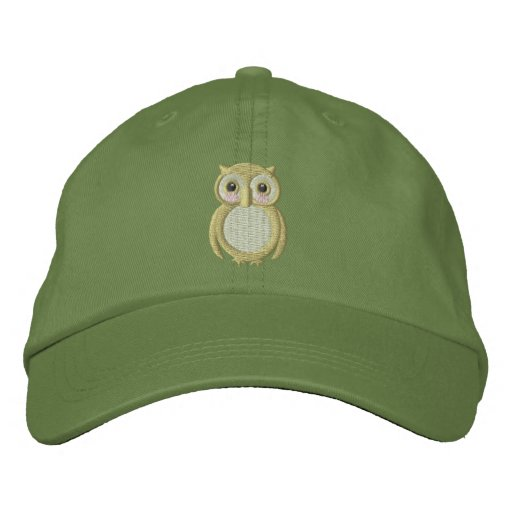 Ollie Baby Owl Embroidered Baseball Cap
