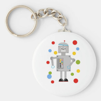 Ollie The Robot Basic Round Button Keychain