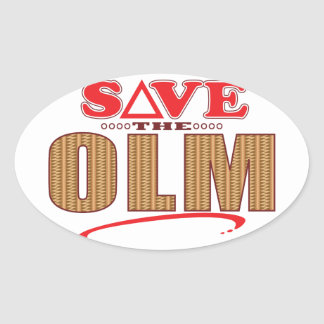 Olm Save Oval Sticker