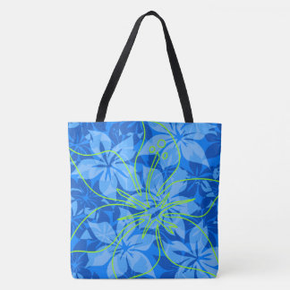 Olowalu Hibiscus Hawaiian Camo Beach Bag