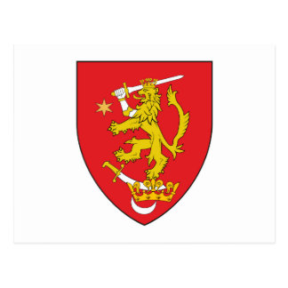 oltenia historic romania armorial chevron symbol l postcard
