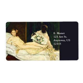 Olympia by Edouard Manet Shipping Label