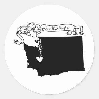 Olympia Classic Round Sticker