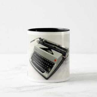 Olympia De Luxe typewriter Two-Tone Coffee Mug