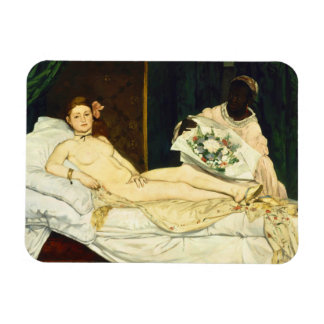 Olympia Edouard Manet Rectangular Photo Magnet