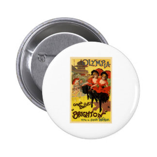 Olympia Grand Ballet Brighton 2 Inch Round Button