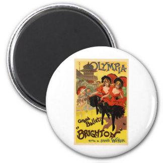 Olympia Grand Ballet Brighton 2 Inch Round Magnet