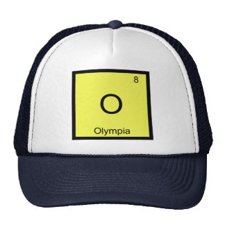 Olympia Name Chemistry Element Periodic Table Mesh Hat